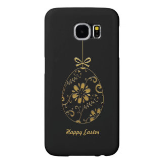Gold Happy Easter Ornaments samsung galaxy S6 case