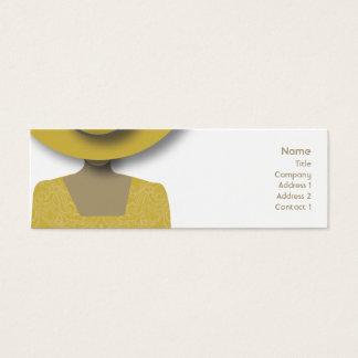 Gold Hat - Skinny Mini Business Card