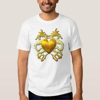GOLD HEART DRAGONS T-SHIRTS