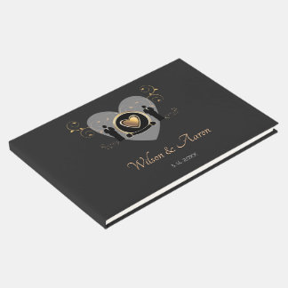 Gold Heart Male Wedding | Guestbook
