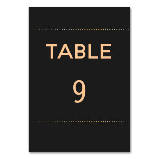Gold Heart Male Wedding | Table Number