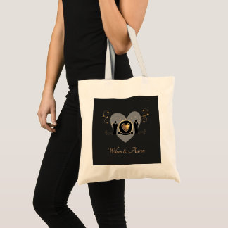 Gold Heart Male Wedding | Tote Bag