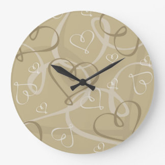 Gold heart pattern clocks