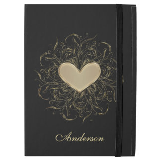 Gold Heart Personalized iPad Pro Case