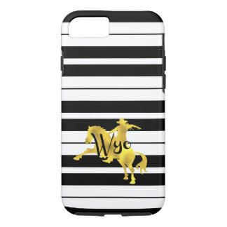 Gold Heart, Wyoming, Striped iPhone 7 Case