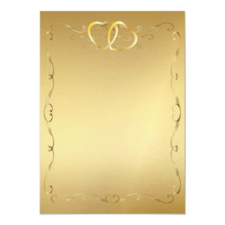 "Gold Hearts Invitation2 5"" X 7"" Invitation Card"