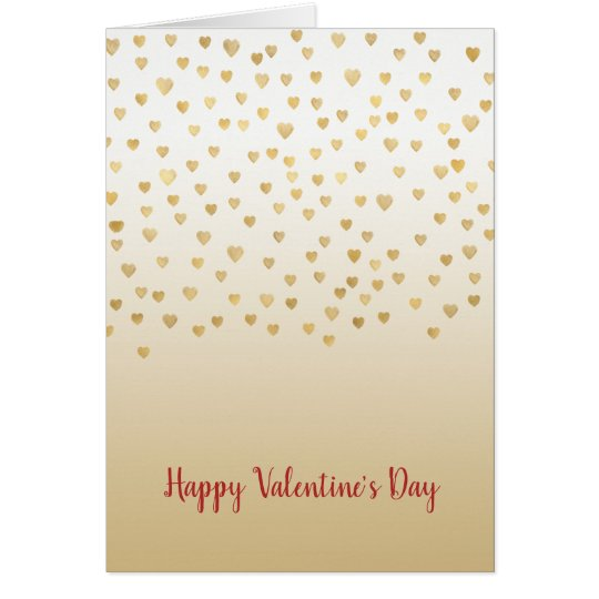 Gold Hearts Ombre Card