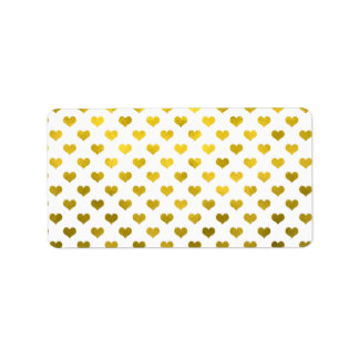 Gold Hearts Polka Dot Heart Metallic Pattern
