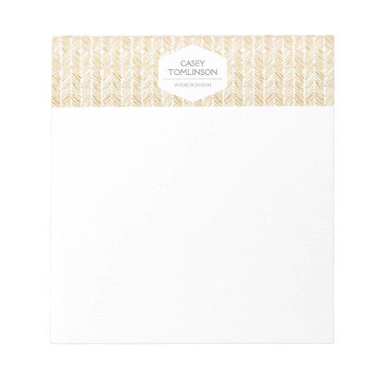 GOLD HERRINGBONE / CHEVRON ARTWORK Notepad