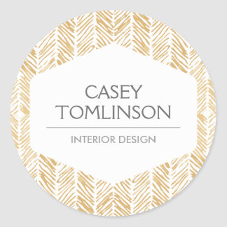 GOLD HERRINGBONE / CHEVRON ARTWORK Stickers