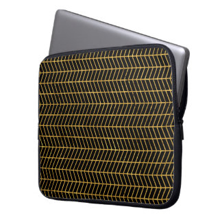 Gold Herringbone Computer Sleeve