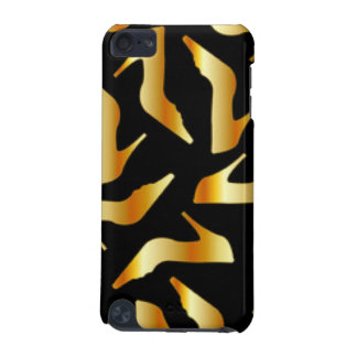 Gold High Heels Pattern Design iPod Touch (5th Generation) Cases