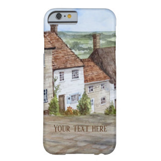 Gold Hill, Shaftesbury, Dorset Watercolor Painting Barely There iPhone 6 Case