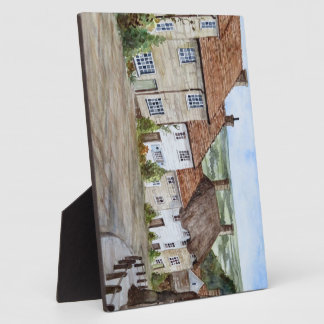 Gold Hill, Shaftesbury, Dorset Watercolor Painting Plaque