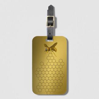 Gold Honey Bee Honey Seller Beekeeper Apiarist Luggage Tag
