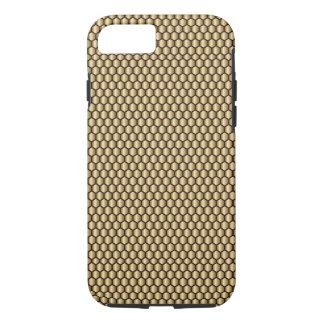 Gold Honeycomb Geometric Tile Look iPhone 7 Case