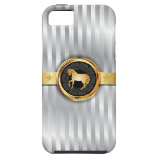 Gold Horse Silver Stripes iPhone 5 Case