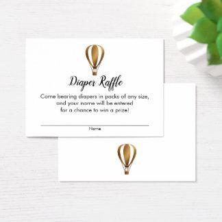 Gold Hot Air Balloon Diaper Raffle Ticket Cards