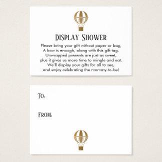 Gold Hot Air Balloon Display Shower Insert Card