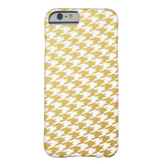 Gold Houndstooth Pattern iPhone 6 Case