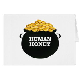 gold human honey card