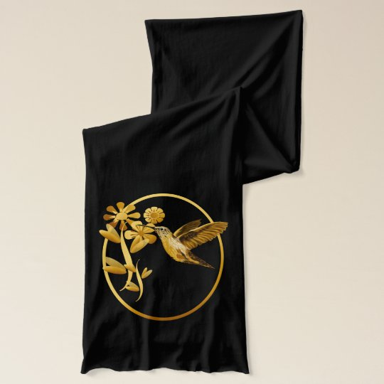 Gold Hummingbird Scarves