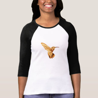 Gold hummingbird women's long-sleeve tee