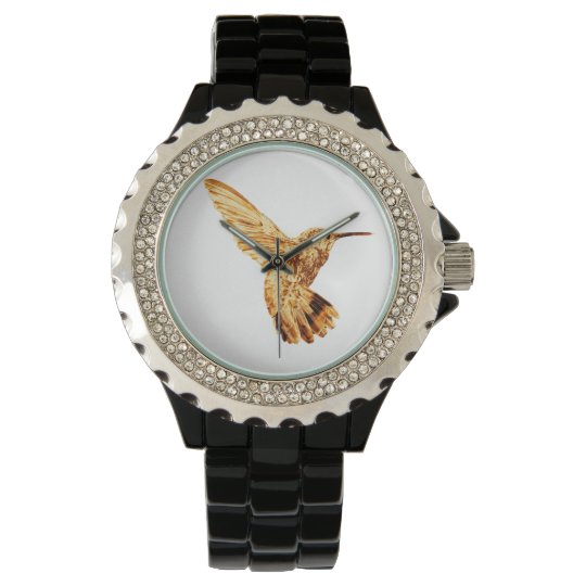 Gold hummingbird women's watch