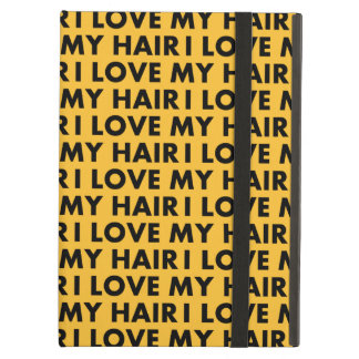 Gold I Love My Hair Bold Text Cutout iPad Air Cover