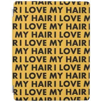 Gold I Love My Hair Bold Text Cutout iPad Cover