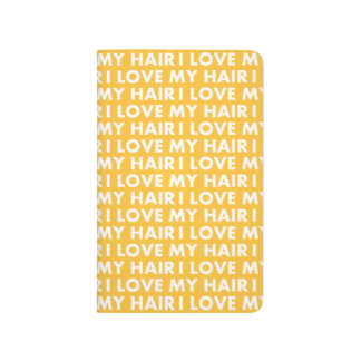 Gold I Love My Hair Bold Text Cutout Journal