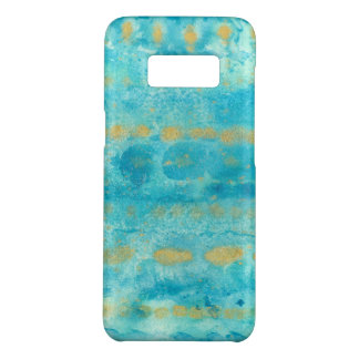 Gold in Deep Turquoise watercolor art Case-Mate Samsung Galaxy S8 Case