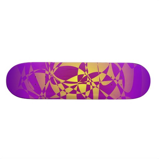 Gold in Purple Haze Skate Boards