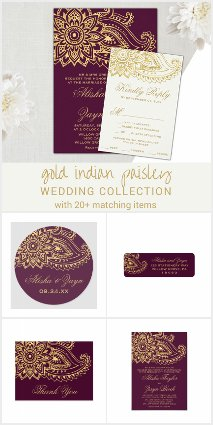 Gold Indian Paisley Wedding Collection