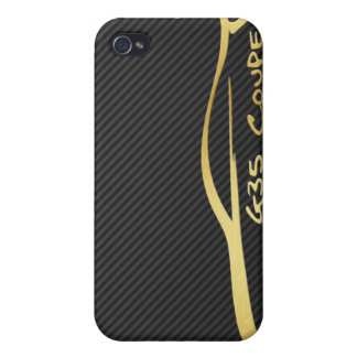 Gold Infiniti G35 Logo with Faux Carbon Fiber iPhone 4 Case