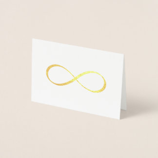 Gold Infinity Symbol Calligraphy Thank You Foil Card