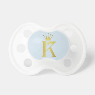 Gold Initial K Letter Monogram Baby Pacifier