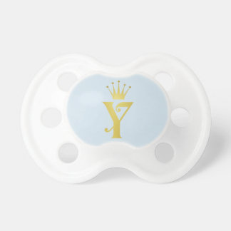 Gold Initial Y Letter Monogram Baby Pacifier Gift