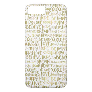 Gold Inspirational Words Case-Mate iPhone Case