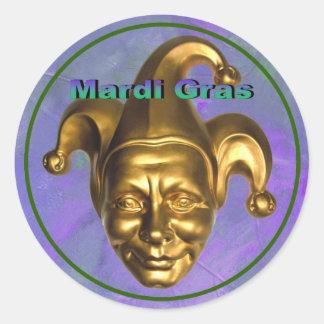 Gold Jester Classic Round Sticker