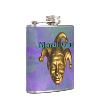 Gold Jester Hip Flask