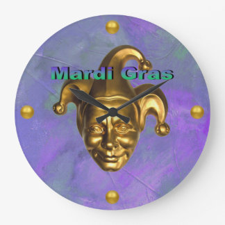 Gold Jester Large Clock