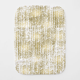 Gold Jewel Bokeh Abstract Burp Cloth