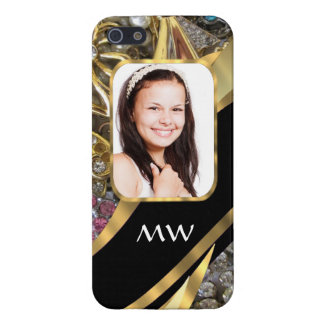 Gold jewelry photo background case for the iPhone 5