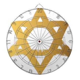 Gold Jewish Star of David Brushstroke Texture Icon Dart Boards