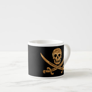 Gold Jolly Roger Espresso Cup