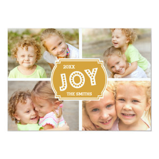 GOLD JOY COLLAGE | HOLIDAY PHOTO CARD
