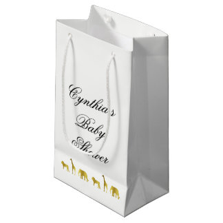 Gold Jungle Baby Shower Favor Bags