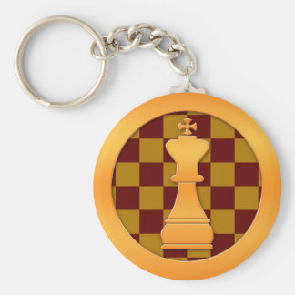 Gold King Chess Piece Key Chains