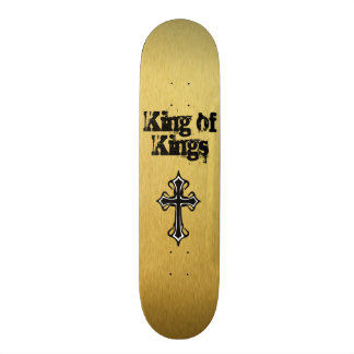 Gold King of Kings Skateboard Deck